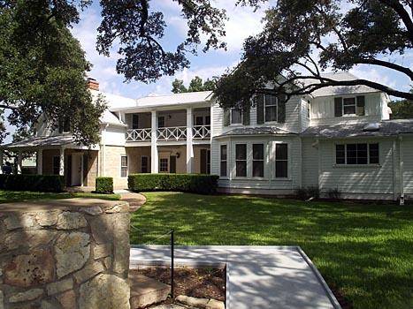 Prezidentův ranč a město německých osadníků v texasu